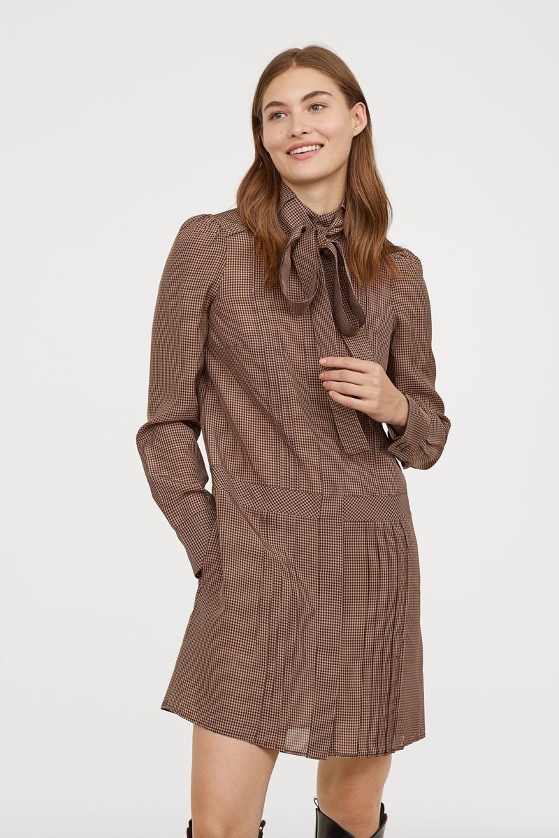 H&M Studio Checked Dress $129