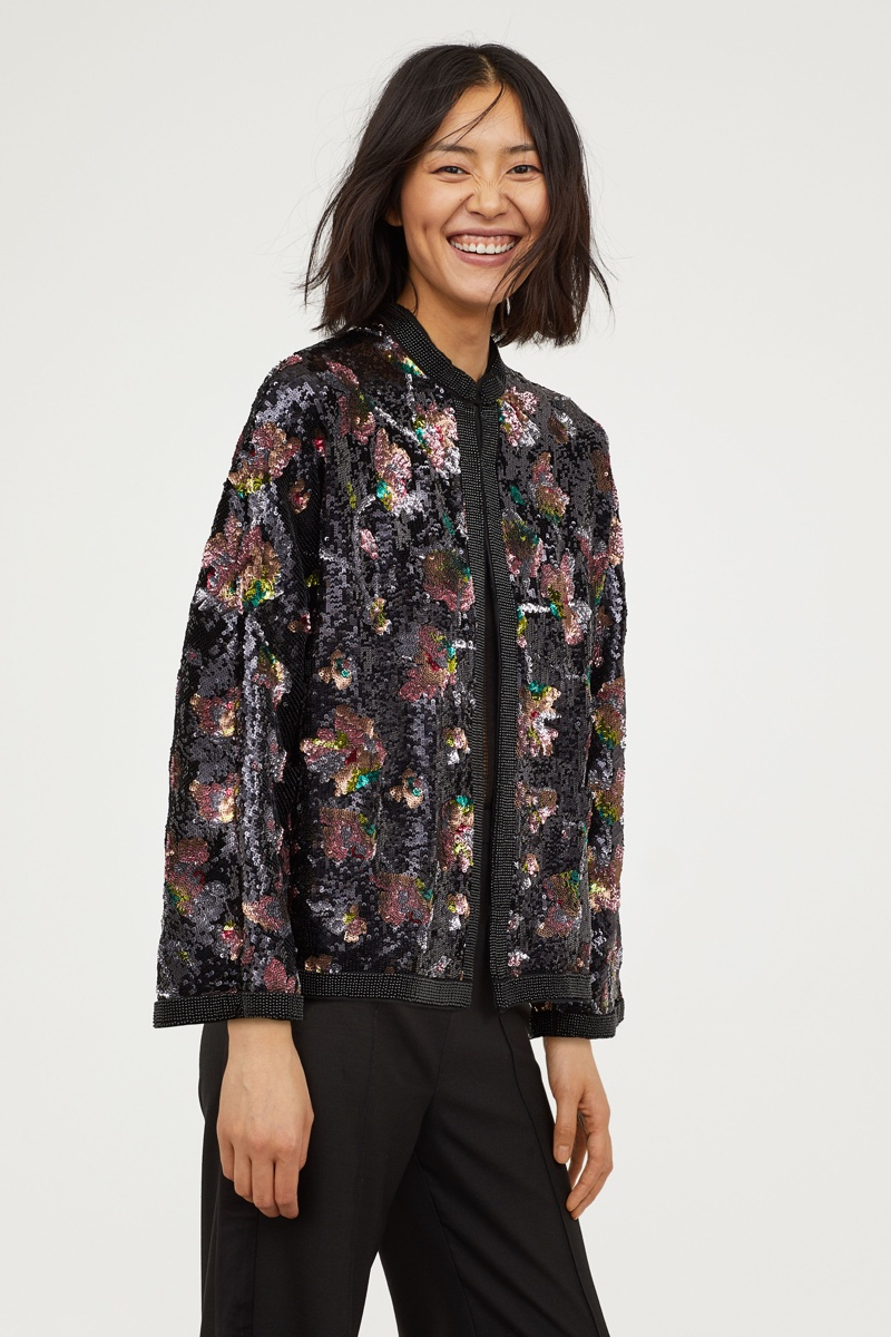 H&M Conscious Exclusive Sequin Embroidered Jacket $299
