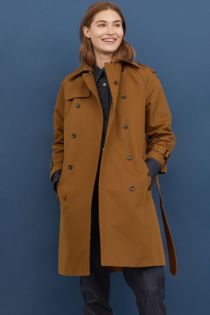 H&M Studio Double-Breasted Cotton Coat $299