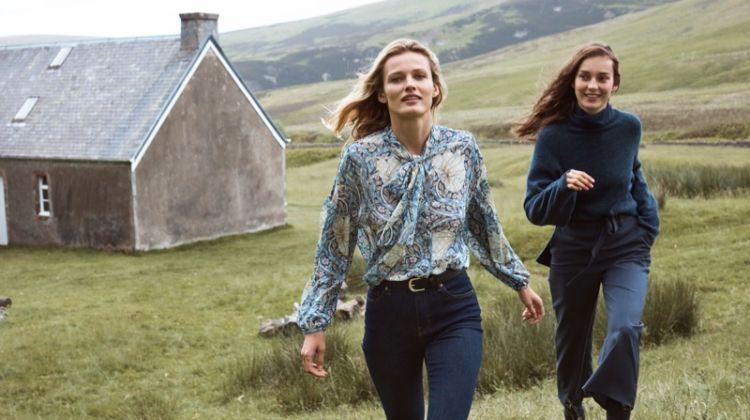 Edita Vilkeviciute and Julia Bergshoeff fronts H&M x Morris & Co. campaign
