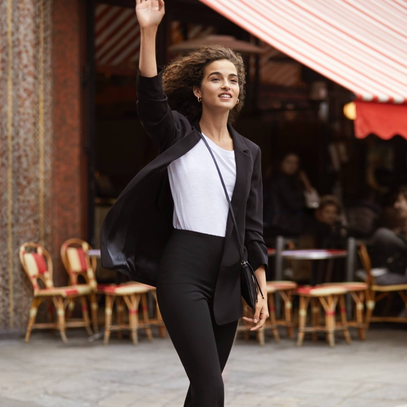 H&M Fitted Blazer, Long-Sleeved Jersey Top and Slim-Fit Pants
