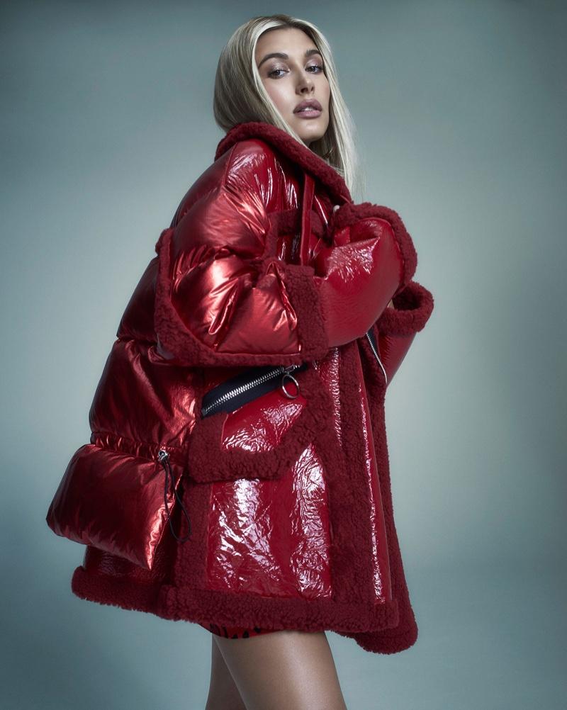 Hailey Baldwin looks red-hot in Nicole Benisti fall-winter 2018 campaign