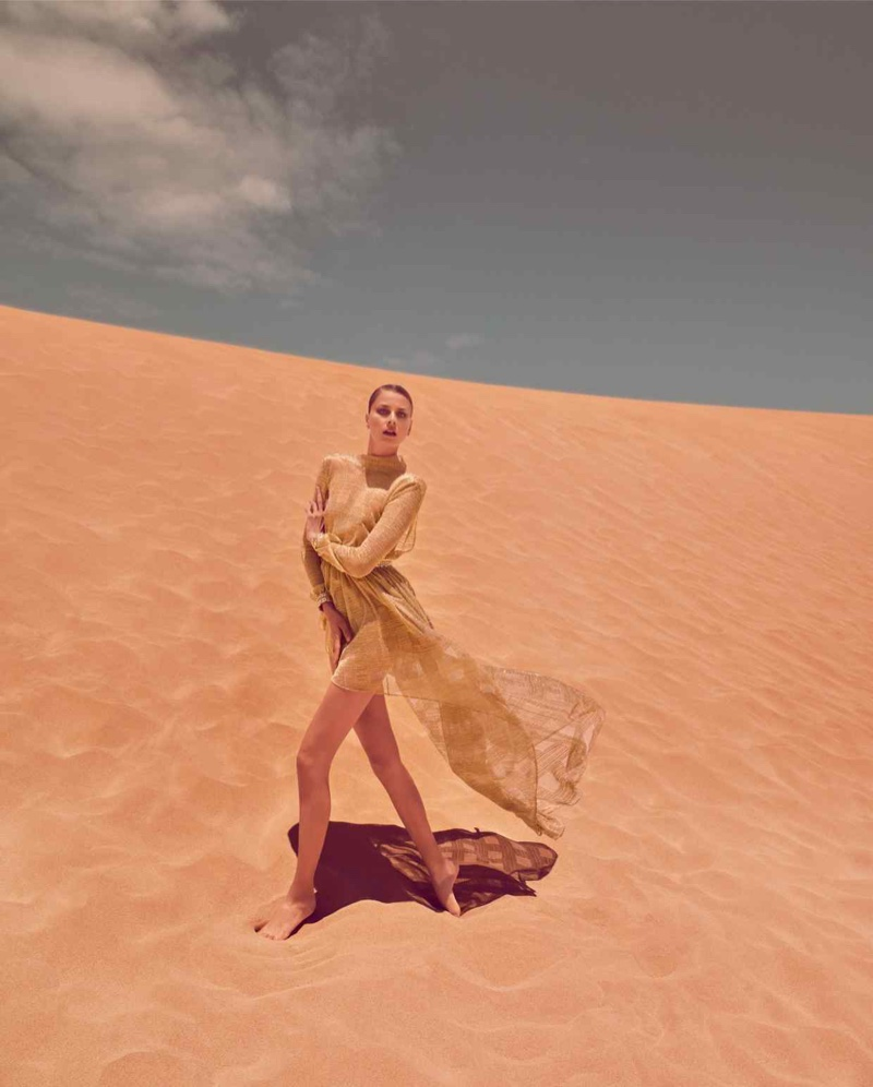 Hana Soukupova Shines in Metallic Styles for How To Spend It