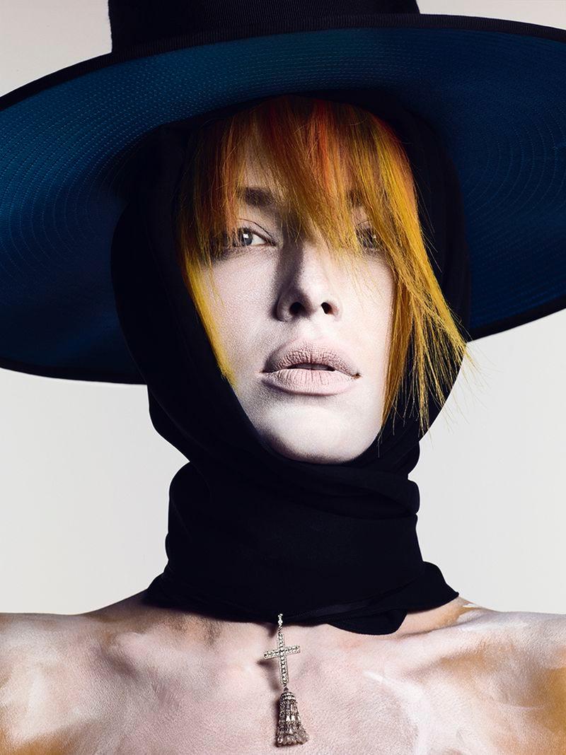 Hannah Ferguson Stuns in Rainbow Beauty for Vogue Russia