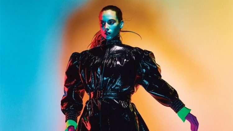 Hannah Ferguson Takes On Neon Fashions for ELLE