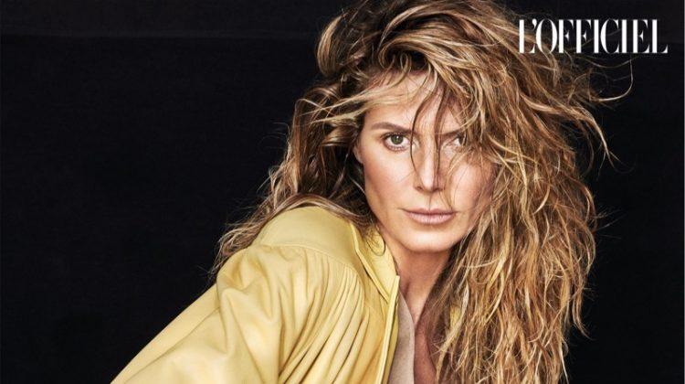 Heidi Klum Models Fall Fashions for L'Officiel Ukraine
