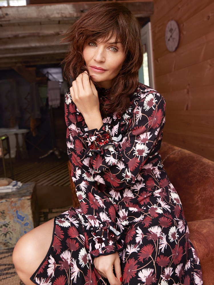 Helena Christensen Models Ladylike Styles for Red Magazine