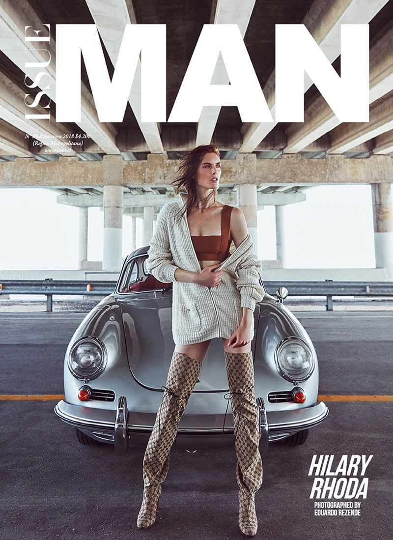 Hilary Rhoda Turns Up the Heat in Issue Man Cover Story