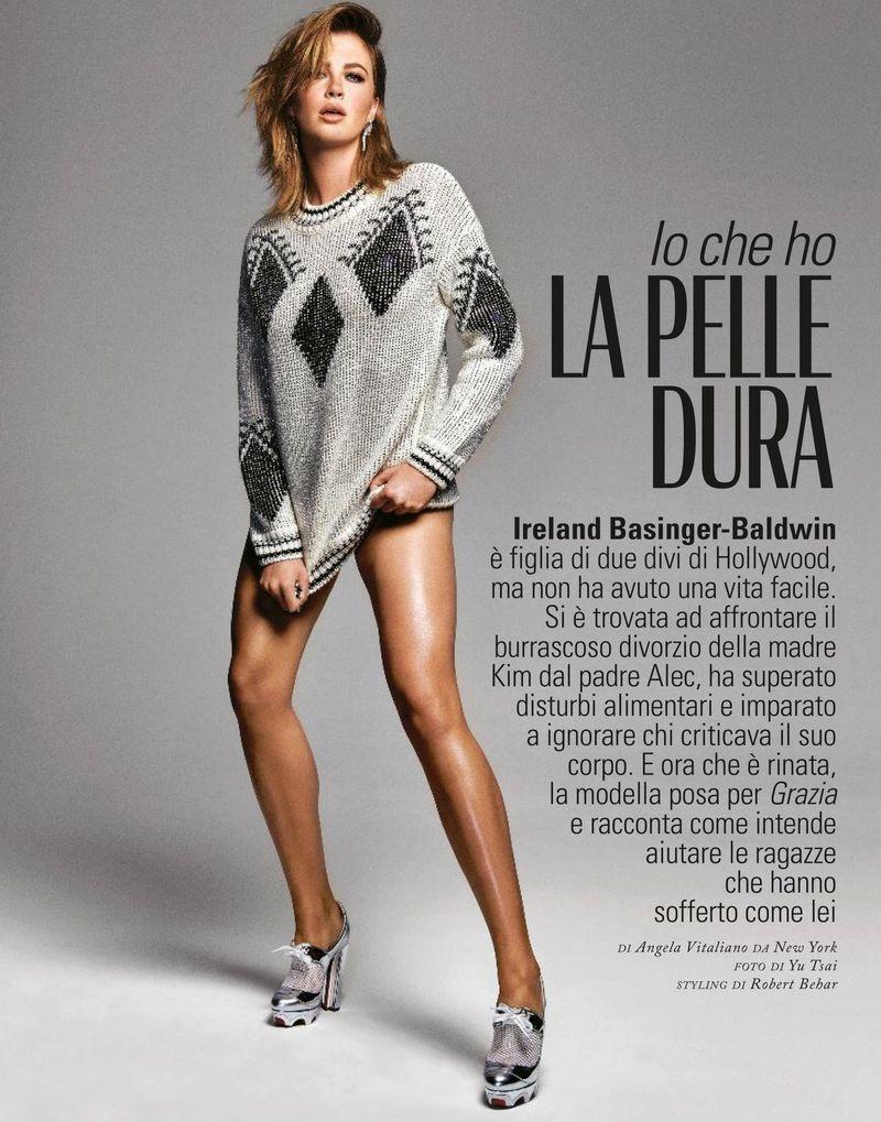 Ireland Baldwin Strikes a Pose for Grazia Italy