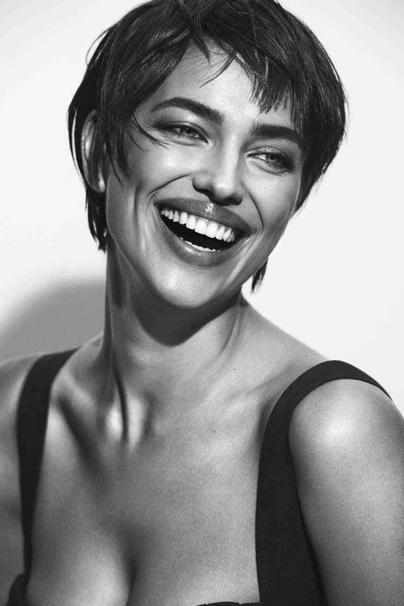 Irina Shayk Wows in Black & White for The Daily Front Row