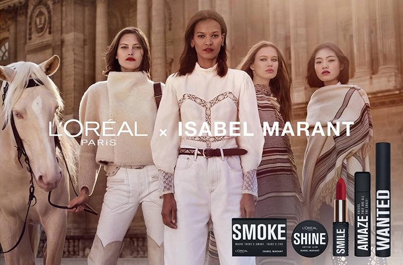 L'Oreal Paris x Isabel Marant makeup campaign launches