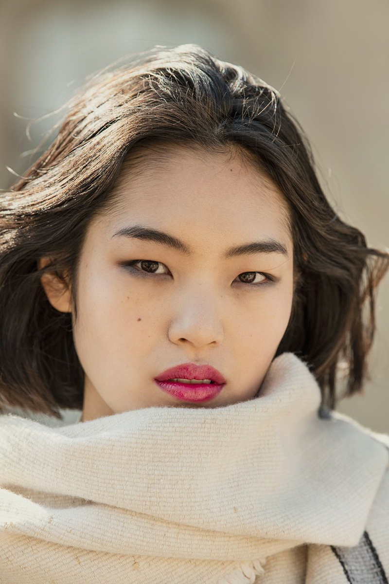 Chiharu Okunugi wears look from L'Oreal Paris x Isabel Marant collection