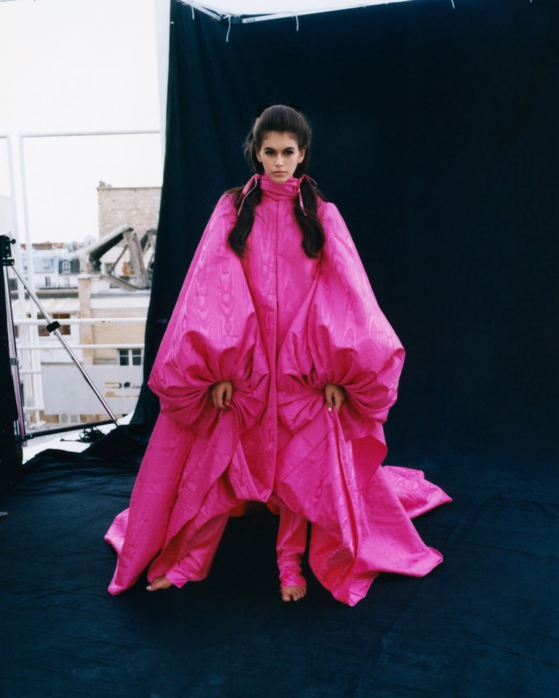 Kaia Gerber Poses in Haute Couture Looks for CR Fashion Book