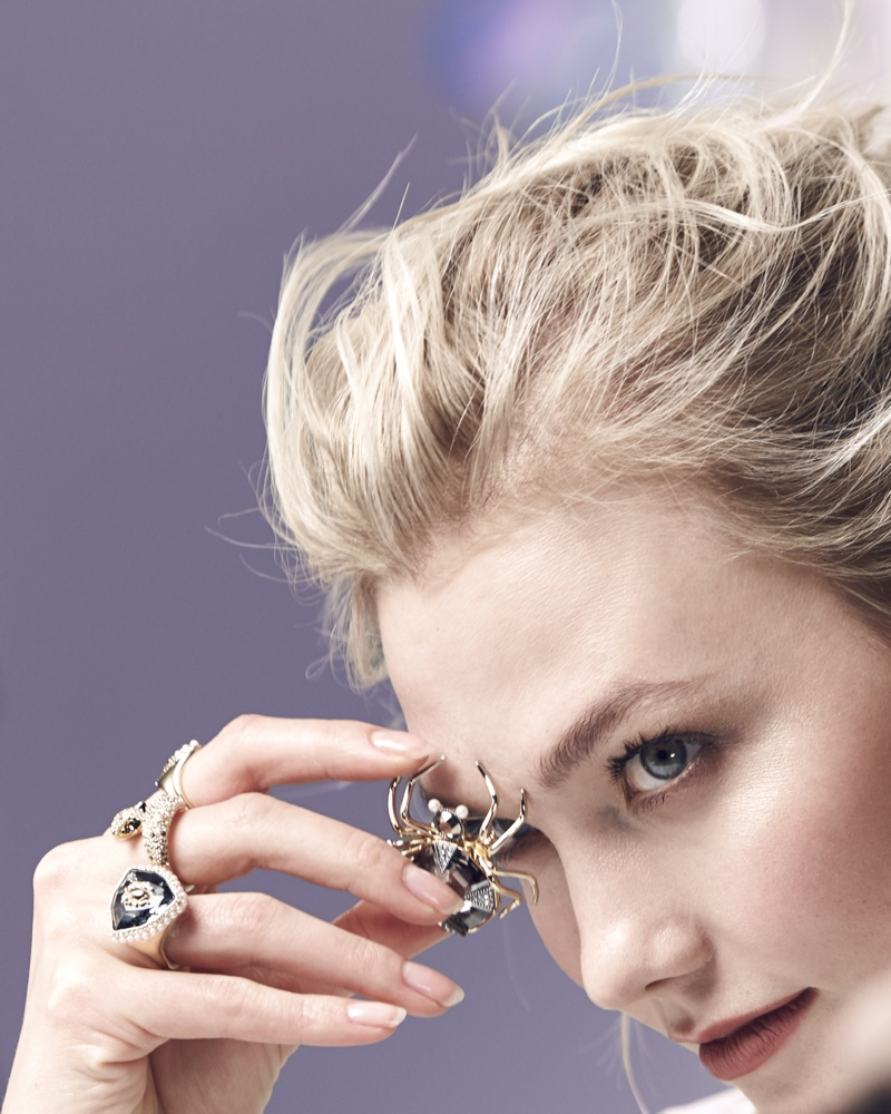 BEHIND THE SCENES: Karlie Kloss shows off Swarovski winter 2018 jewelry