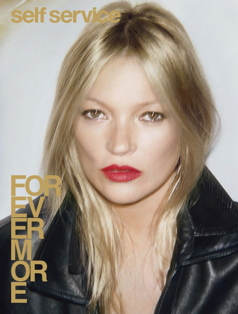 Kate Moss Poses in Saint Laurent Styles for Self Service