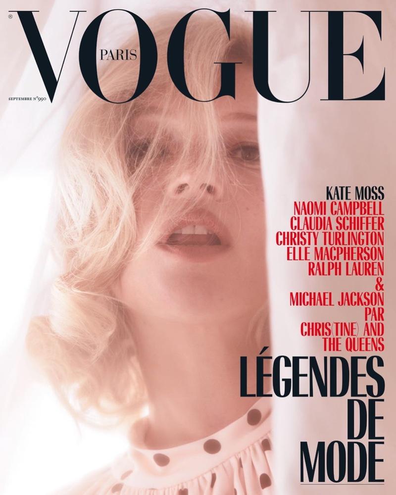 Kate Moss on Vogue Paris September 2018 Cover