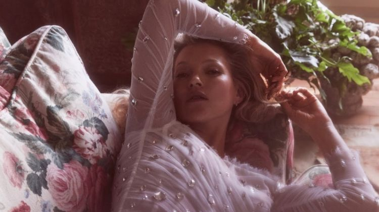 Kate Moss Poses in Elegant Fashions for Vogue Paris