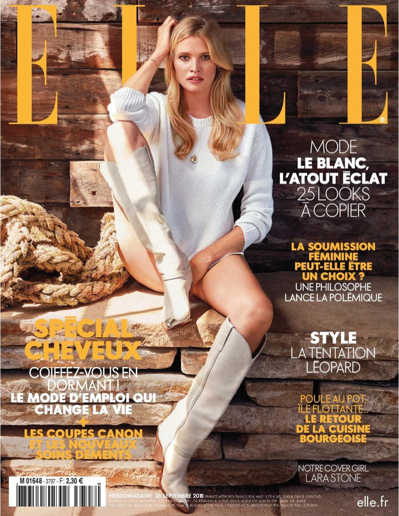 Lara Stone Poses in Relaxed Weekend Styles for ELLE France