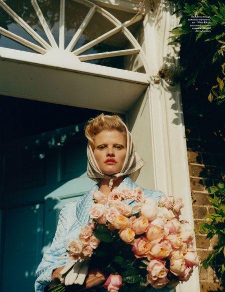 Lara Stone Models Demure Fashions for Vogue Ukraine