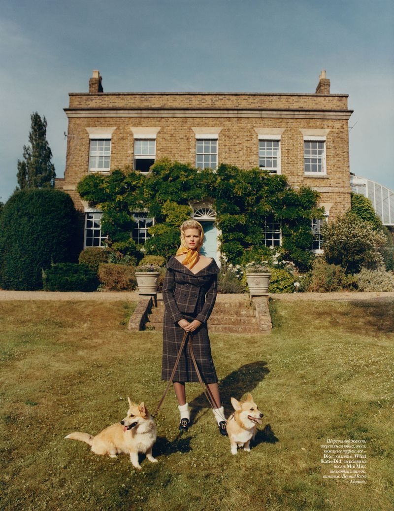 Lara Stone Models Demure Fashions for Vogue Ukraine