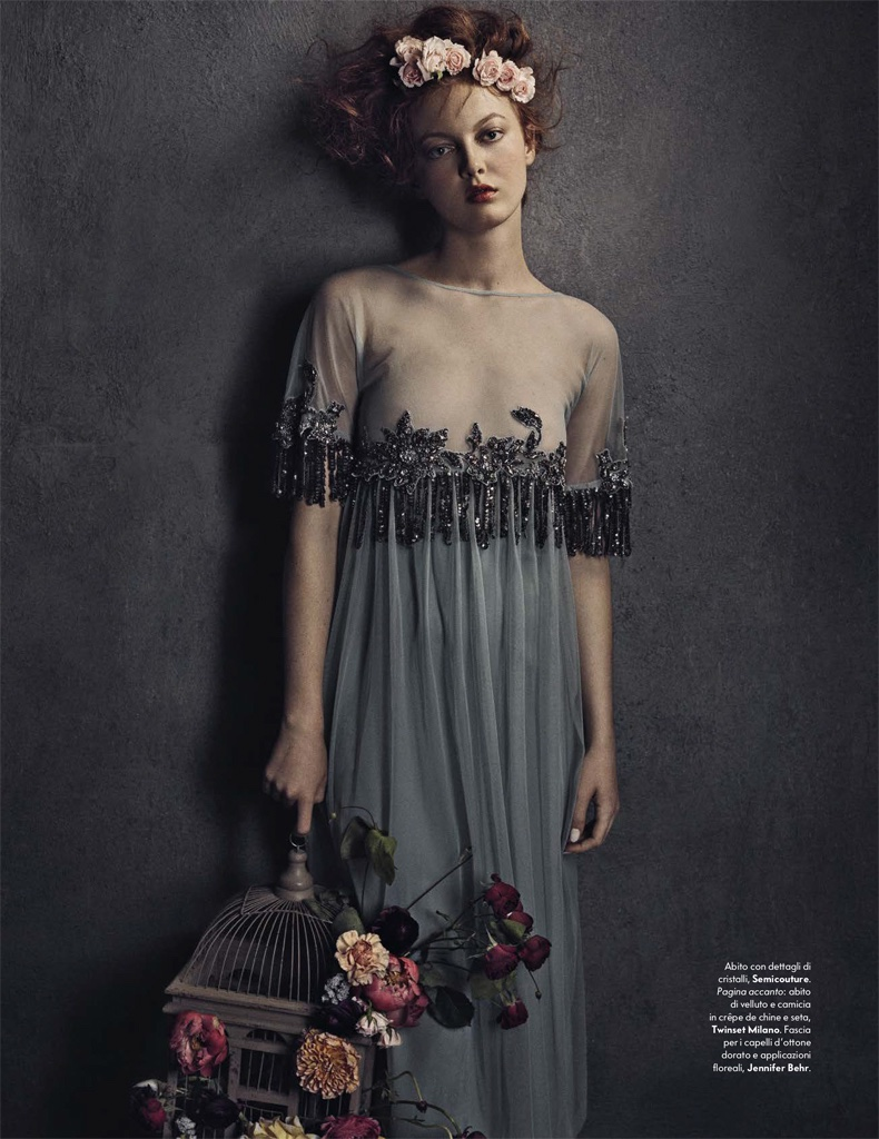 Laura Hanson Sims is Like a Painting for Vanity Fair Italy