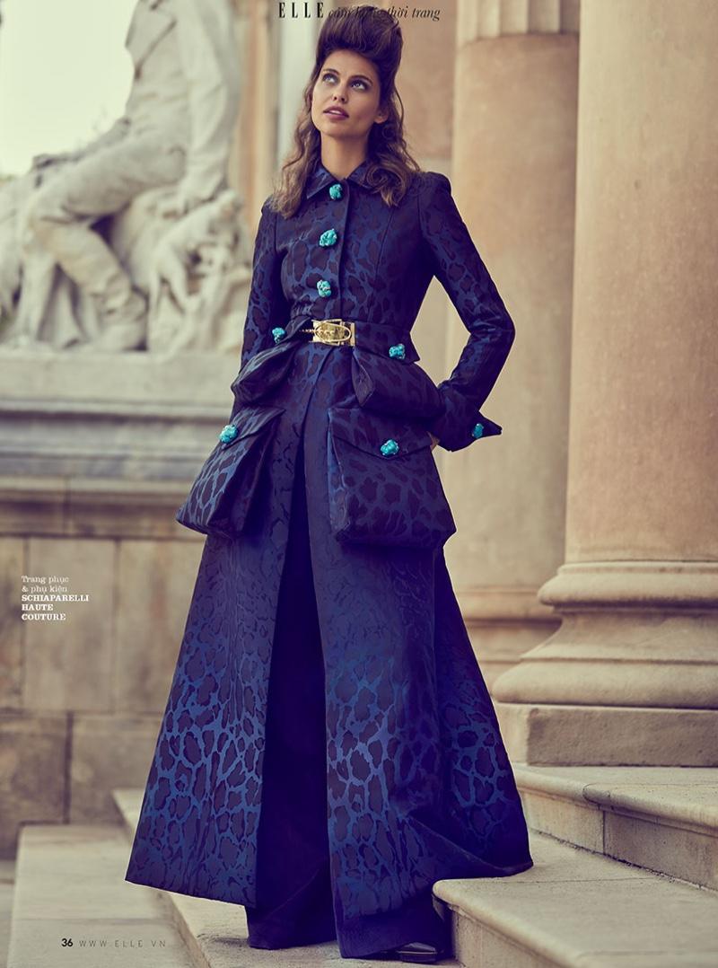 Lauren Auerbach Wears Ladylike Looks for ELLE Vietnam