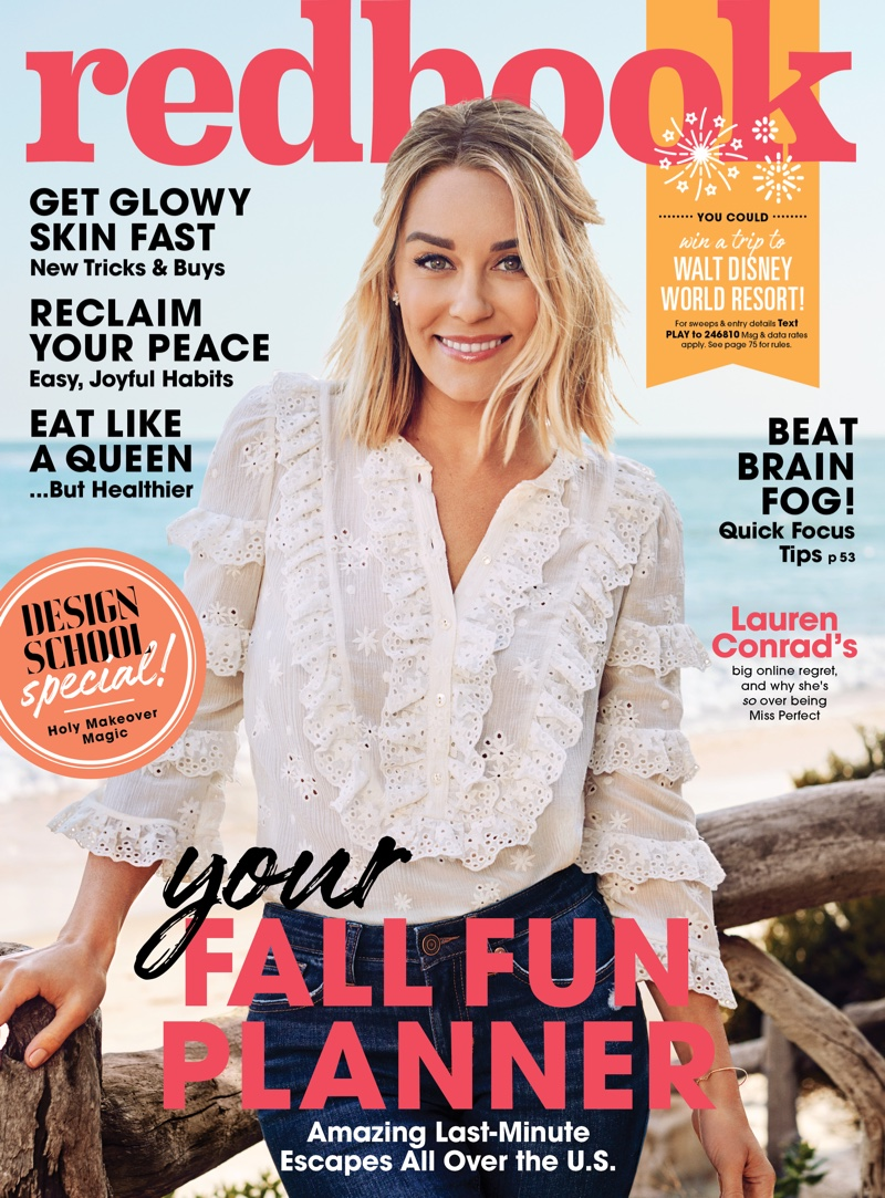 Lauren Conrad on Redbook Magazine October 2018 Cover