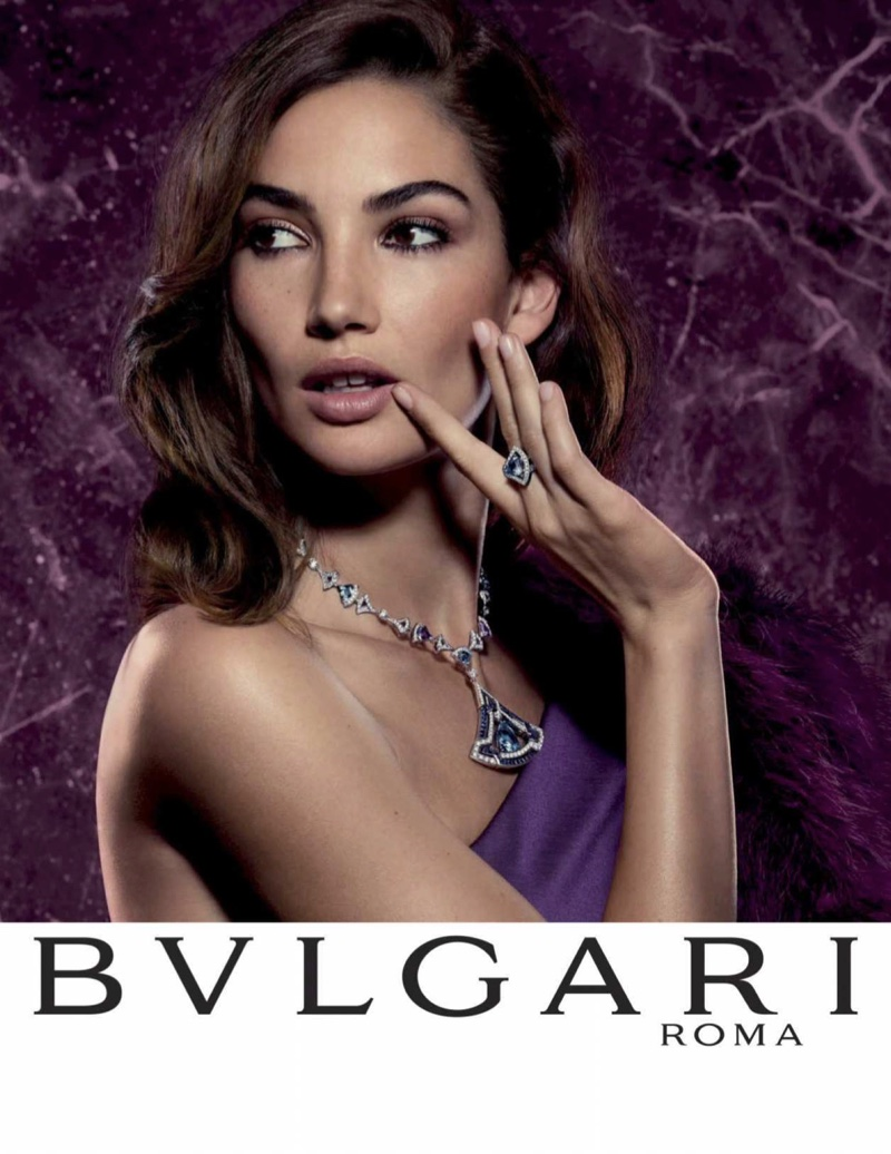 Model Lily Aldridge appears in Bulgari Divas' Dream campaign