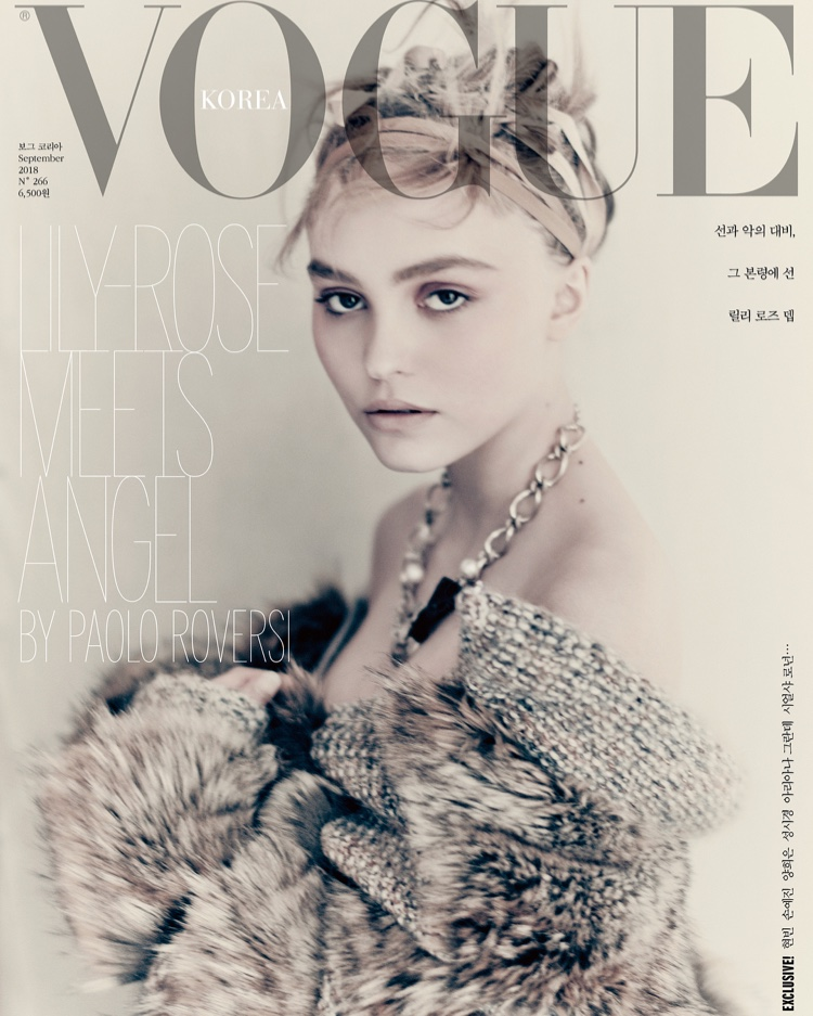 Lily-Rose Depp on Vogue Korea September 2018 Cover