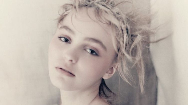 Lily-Rose Depp poses in Chanel beaded dress
