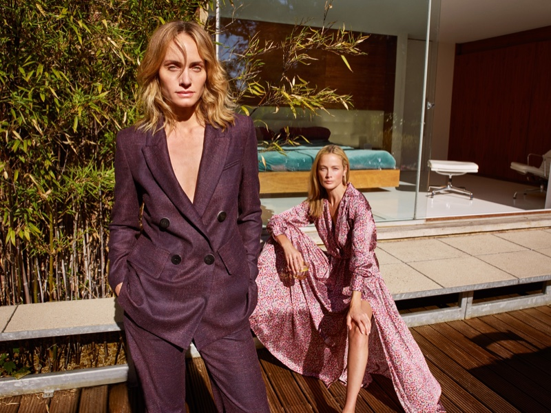 Amber Valletta and Carolyn Murphy star in Mango fall-winter 2018 campaign