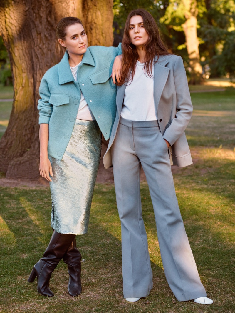 Helena Tejedor and Cecile Winckler appear in Mango fall-winter 2018 campaign