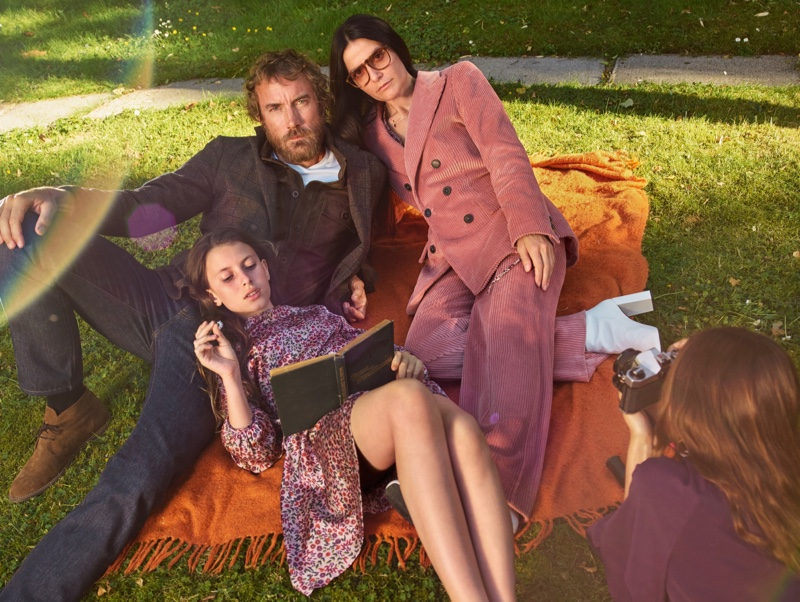 Vanina Sorrenti, Cedric Buchet and Lennon Sorrenti Buchet star in Mango fall-winter 2018 campaign