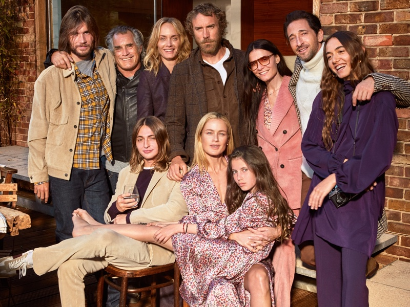 The cast of Mango's fall-winter 2018 campaign