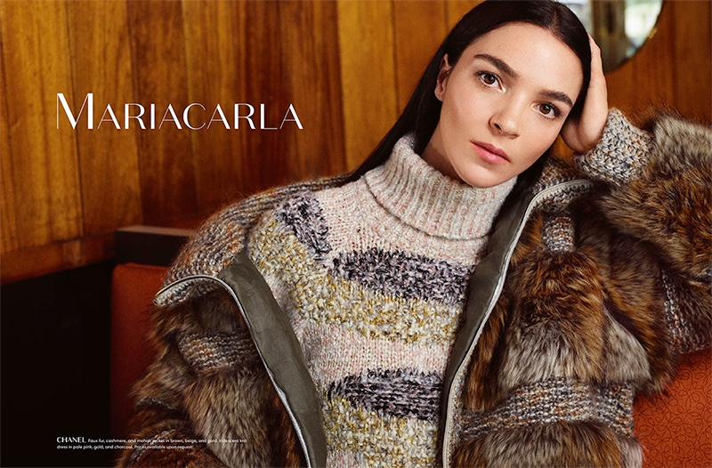 Mariacarla Boscono Layers Up in Autumn Outerwear for Holt Renfrew