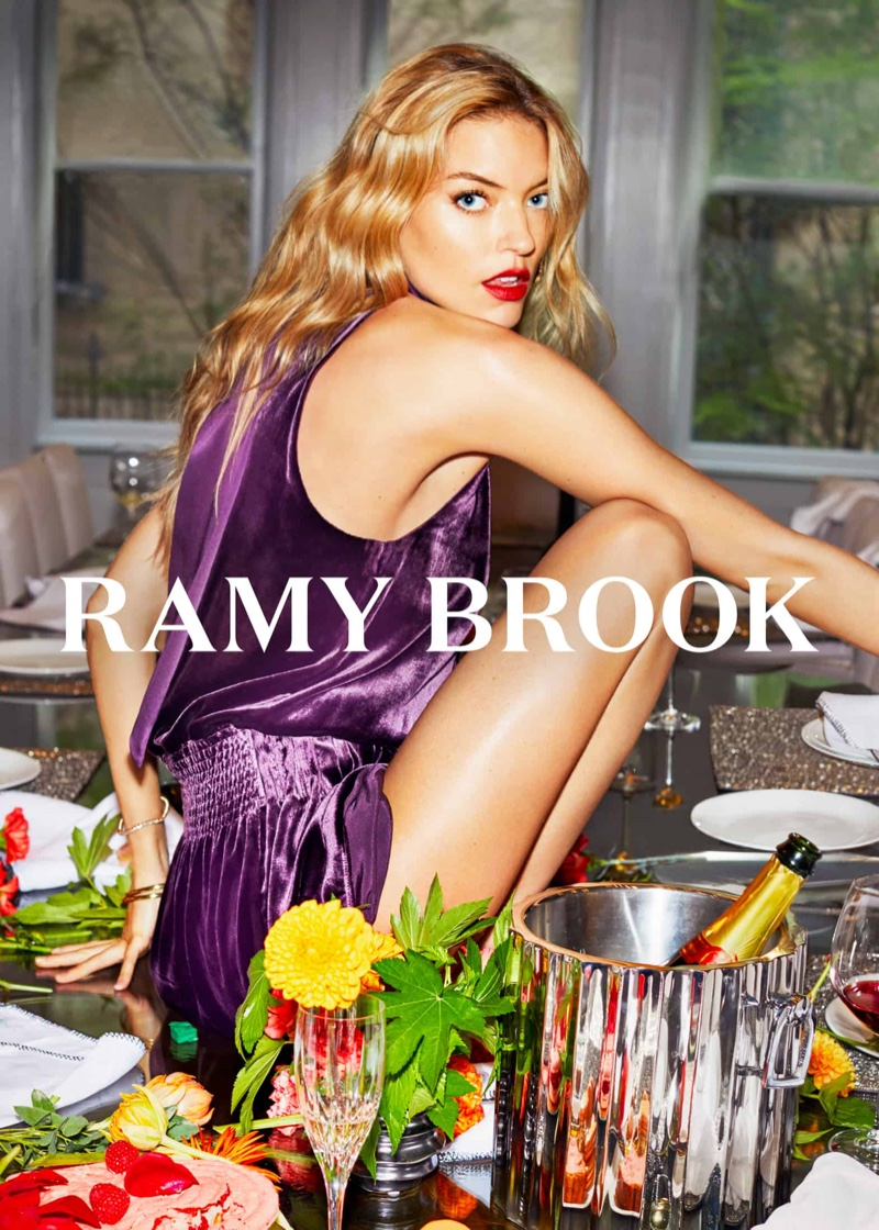 Model Martha Hunt fronts Ramy Brook fall-winter 2018 campaign