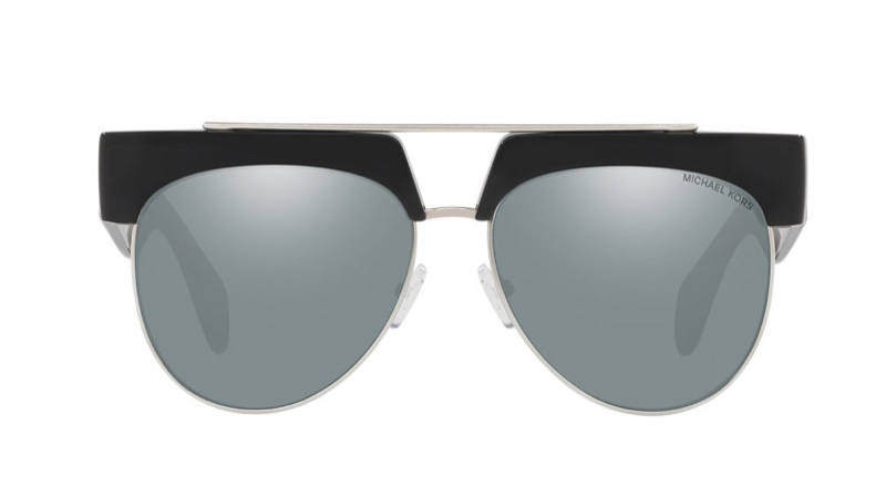 Michael Kors Milan Sunglasses in Black/Silver $134.25