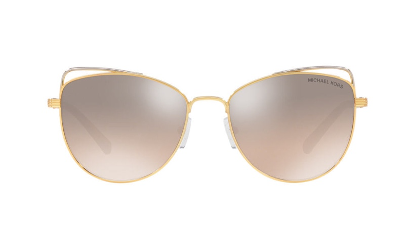 Michael Kors St. Lucia Sunglasses in Gold/Silver $104.25