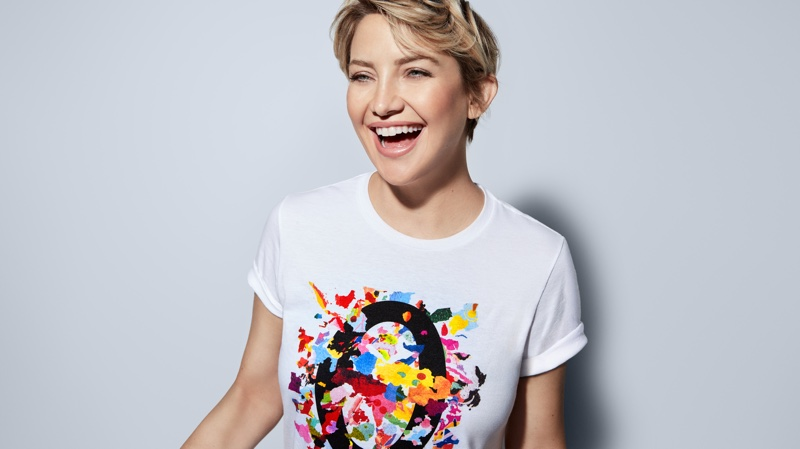 Kate Hudson is all smiles in Michael Kors Watch Hunger Stop campaign