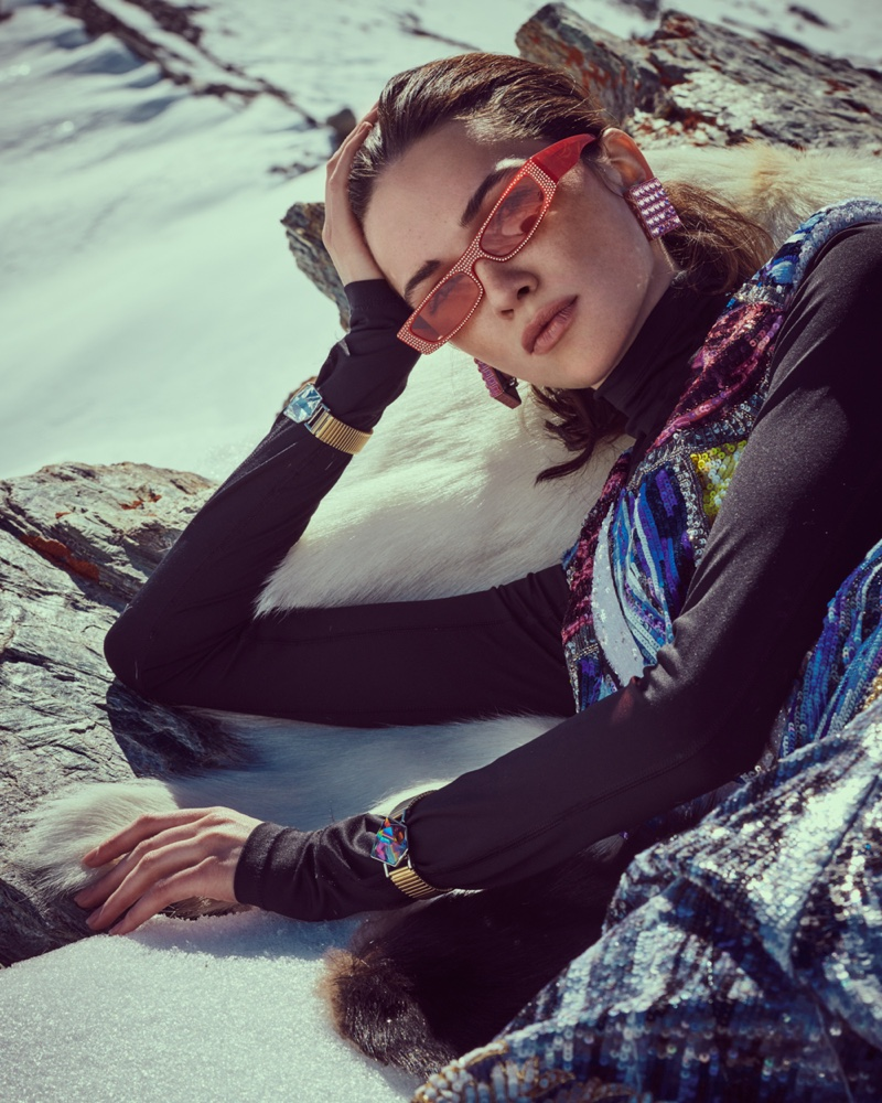 Nadya Kurgan Dresses for the Snow in Salt Magazine