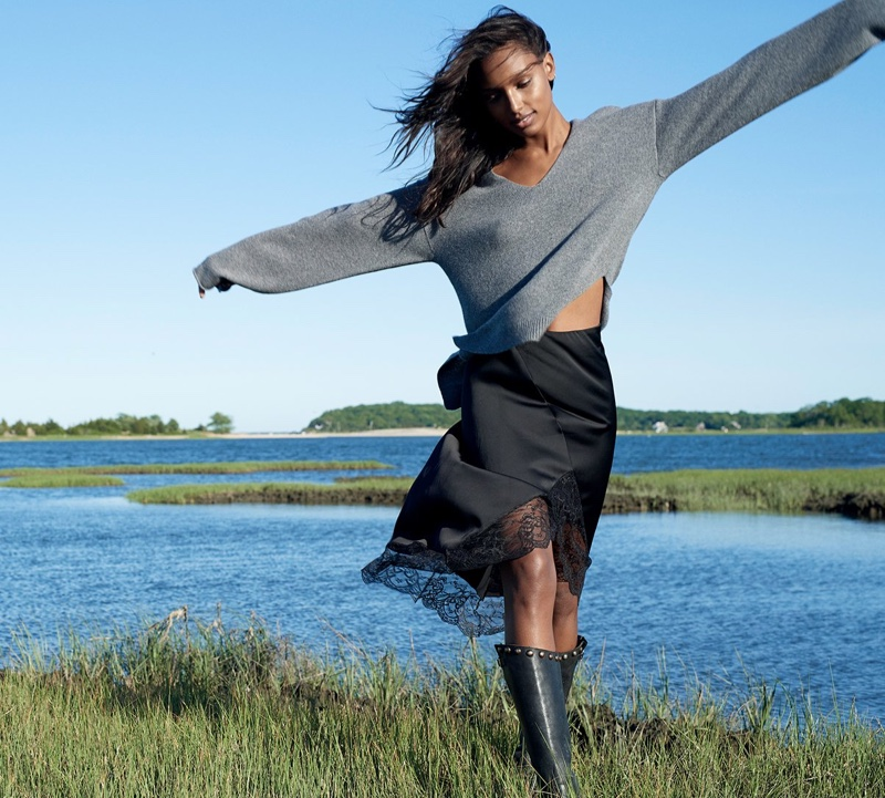 Jasmine Tookes stars in Naked Cashmere fall 2018 campaign