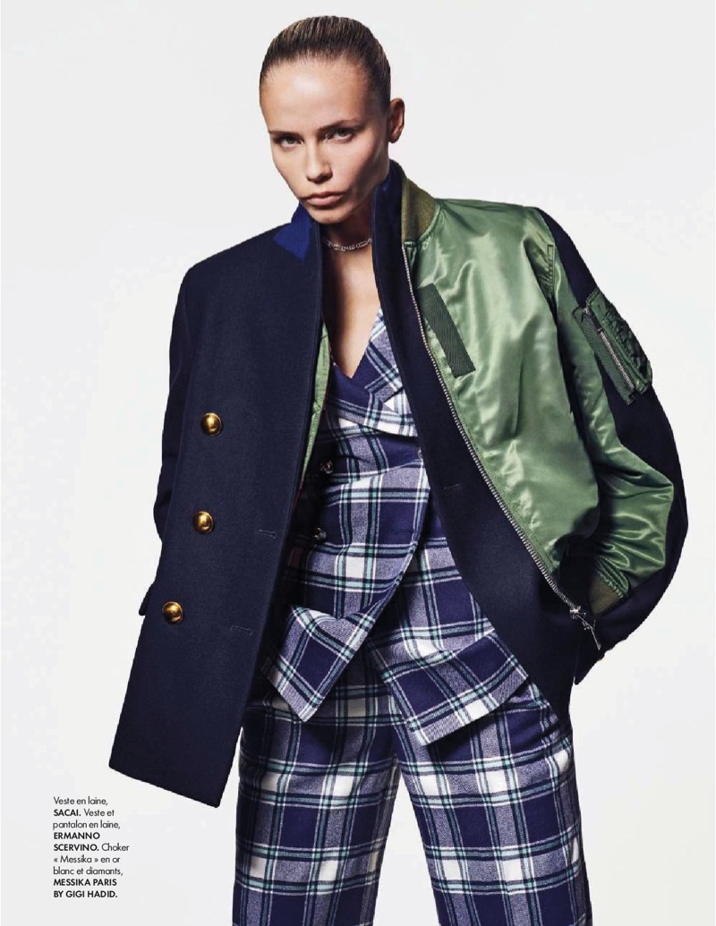 Natasha Poly Takes On Fall Fashion Trends for ELLE France