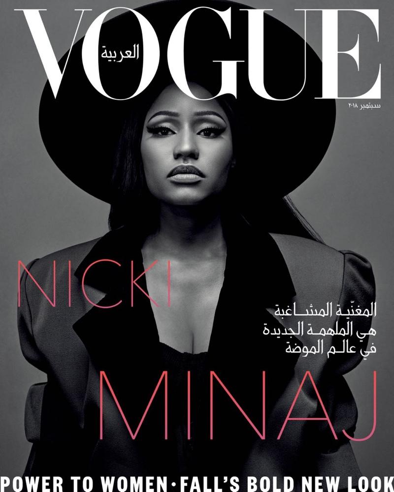 Rapper Nicki Minaj on Vogue Arabia September 2018 Cover