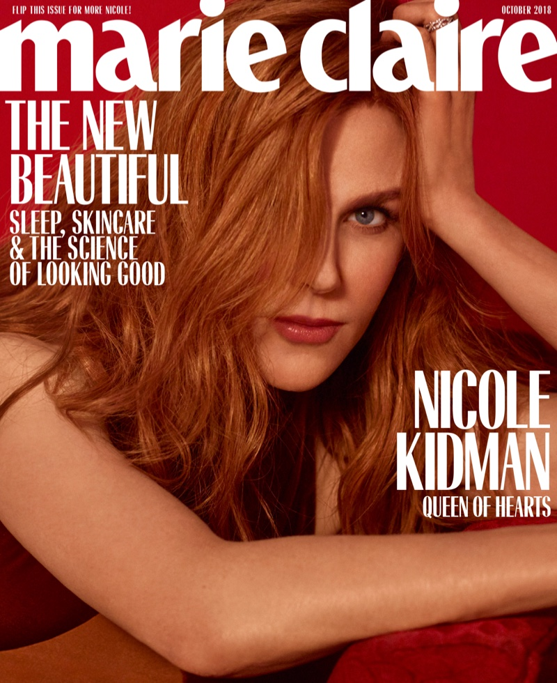 Nicole Kidman on Marie Claire US October 2018 Cover