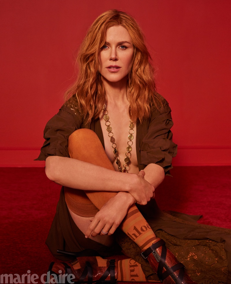 Nicole Kidman poses for Marie Claire US