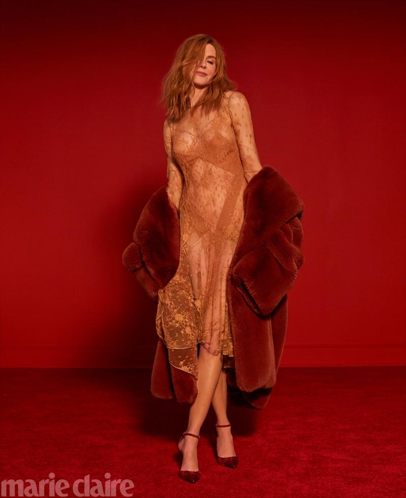 Actress Nicole Kidman wears Givenchy jacket and dress