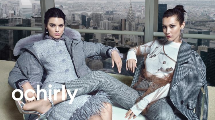 Kendall Jenner and Bella Hadid star in Ochirly winter 2018 campaign