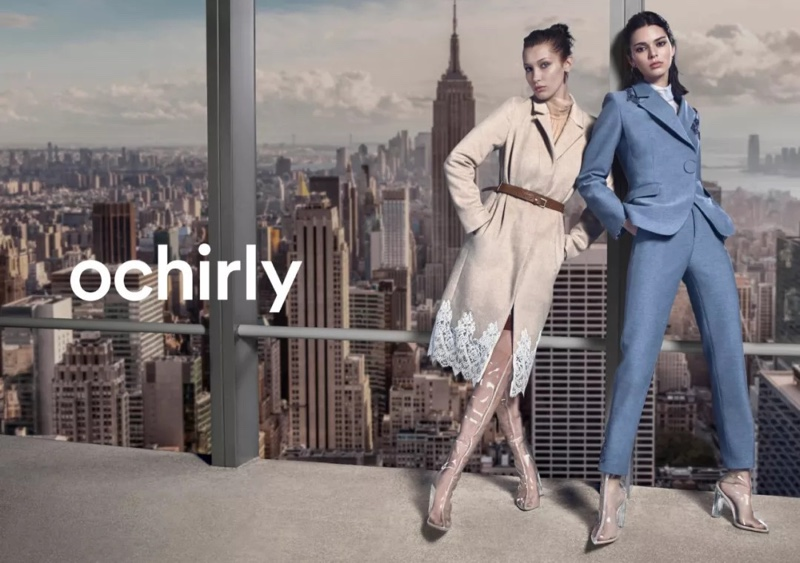 Models Kendall Jenner and Bella Hadid front Ochirly winter 2018 campaign