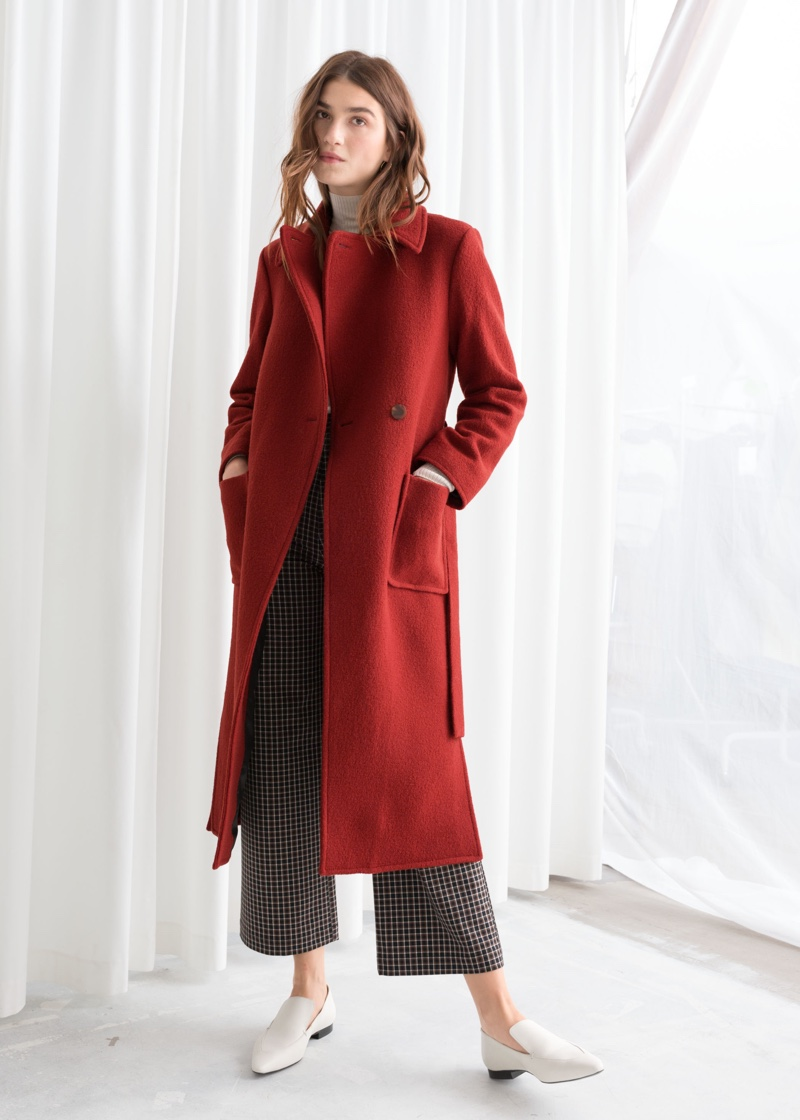 & Other Stories Belted Wool Coat $249
