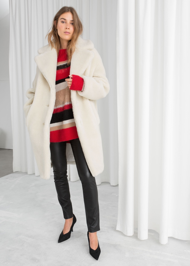 & Other Stories Faux Shearling Coat $179